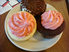 The Royale with Cheese and Strawberry Cupcakes from Cupcake Royale