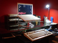 My writing desk (the REAL xsphat) Tags: up set writing model mac desk 10 space ibm mini m saver keyless