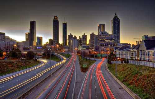 Atlanta at sunset - HDR