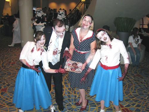 1950s Zombie Family