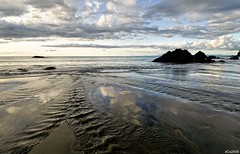 El ciclo del agua (dani.Co) Tags: travel vacation holiday beach water río photoshop reflections river sand agua nikon colombia playa reflejos cs3 arean nuquí danico