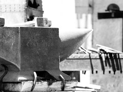 Forge (3 of 7) (In dust we trust) Tags: blackandwhite hammersmith blacksmith forge anvil