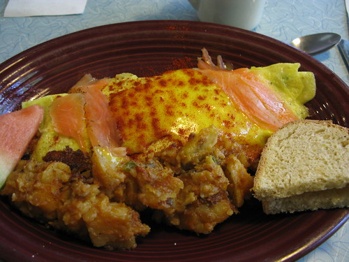 O'Rourke's Casino omelet with gravlax
