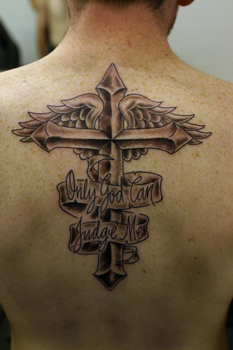 Cross and Wings Tattoo,tattoos,tattoo designs