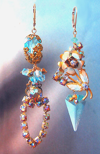 Asymmetrical Earrings  -  Ginger Lily Designs