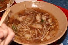 Pork and fish paste noodle soup