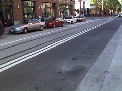New Portland Mall striping