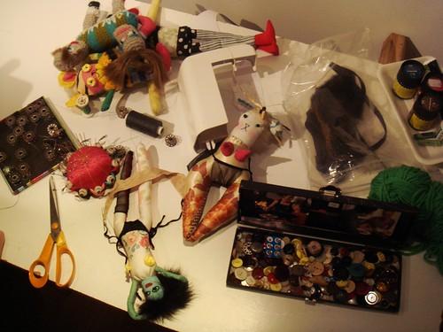 Taller de muñecos de Gina Thorstensen