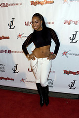porscha coleman with a little camel toe action going on
