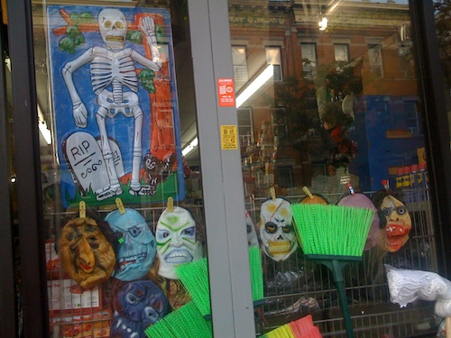 Halloween time at the 99cent store in Bushwick