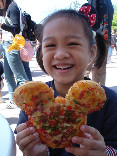 你拍攝的 Mickey Pizza。