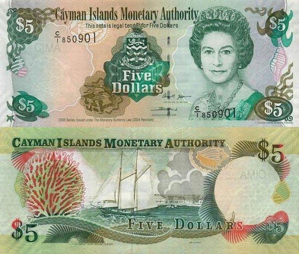 Cayman Islands P-34, 5 Dollars, 2005