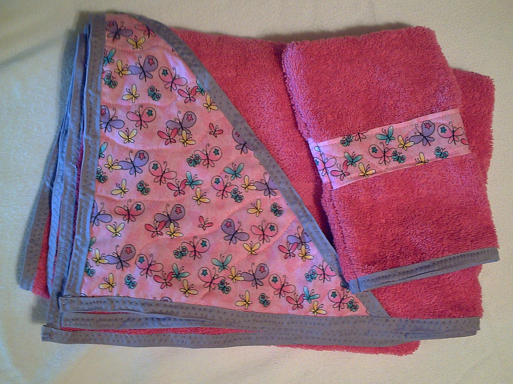 Butterflies towel set