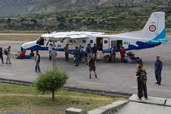 Our plane in Jomsom, Sita Air (Andreas' Photos) Tags: nepal pokhara jomsom kagbeni kaligandaki sitaair