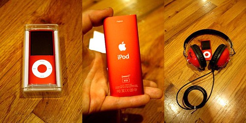 ipod nano chromatic product red edition