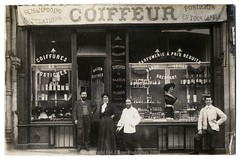 Maison Bouthier, Coiffeur: A Hairdressing Salon From the Belle poque (c.1910) (postaletrice) Tags: paris france beauty shop hair photography photographie postcard barber vintagepostcard hairdresser salon shopwindow 1910 francia coiffeur parlor hairdressers vitrine fotografa escaparate devanture peluquera cartepostale cpa allthebest rppc dependientes cartepostaleancienne postalantigua deltiology cartofilia cartophilie