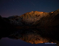 Falling Star over Convict Lake (Darvin Atkeson) Tags: longexposure usa america sunrise landscape us shootingstar easternsierra convictlake mtlaurel darvin fallingstar 5photosaday atkeson  darv   vosplusbellesphotos liquidmoonlightcom liquidmoonlight