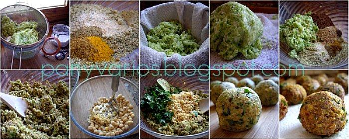 Koftas vegetarianas con cous-cous de remolacha mosaico