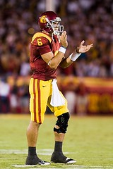 Mark Sanchez (Eric Wolfe) Tags: california usa college sports berkeley losangeles football unitedstates cal coliseum universityofsoutherncalifornia ncaa usctrojans pac10 marksanchez californiabears original:filename=20081108209jpg
