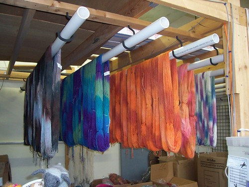 Pretty yarns drying
