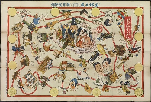 Manga sugoroku (Manga board game) 1929