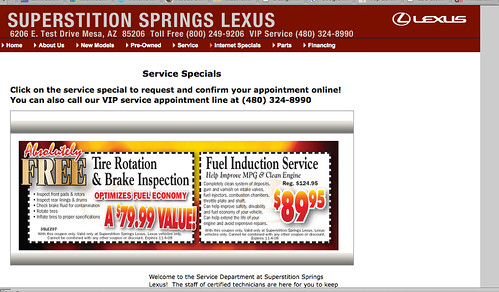Superstitions Springs Lexus Makes Online Mistake