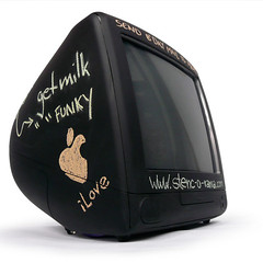 iBoard (iMac w/ cost effective extended memory) (Satta van Daal) Tags: apple vintage computer macintosh chalk mac imac chalkboard satta