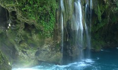 Azul turquesa (Jos Lira) Tags: blue fall nature water cascadas