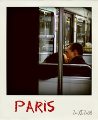 Paris - 20.XI.2008 (alibaba0) Tags: woman man paris france love train underground subway french polaroid kiss couple mtro tube amour passion intimate tenderness intimacy tendresse decisivemoment baiser frenchkiss intimit poladroid photovole 1j1p bestofr