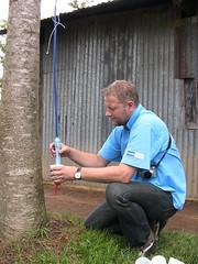 Vestergaard Frandsen Employee Drinks from LifeStraw Family