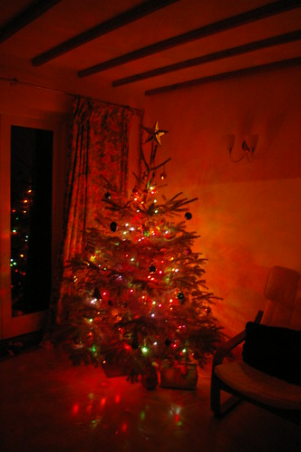 Our Christmas tree with the glow