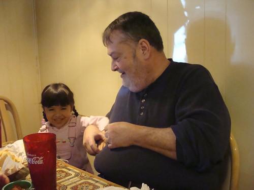 Mina tickling Grandpoo