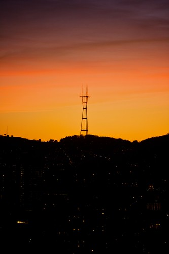 Sutro Tower, Sunset