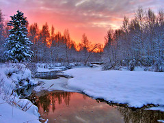 Evening Glow (jack4pics) Tags: winter sunset alaska river searchthebest matsu naturesfinest sameold mywinners sensationalphoto