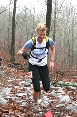 Wendi Parker-Dial running the Mount Cheaha 50k
