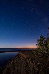 IMGP-0987 (Bob West) Tags: longexposure nightphotography ontario beach night lakeerie greatlakes moonlight nightshots startrails sigma1020mm southwestontario bobwest k10d