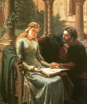Abelard and his pupil, Heloise by Edmund Leighton. by you.