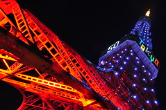 Tokyo Tower 50th Anniversary with diamond veil