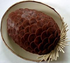 pine cone - marzipan (distopiandreamgirl) Tags: christmas cake yule marzipan pinecone buche kpykakku chocolatemarzipan