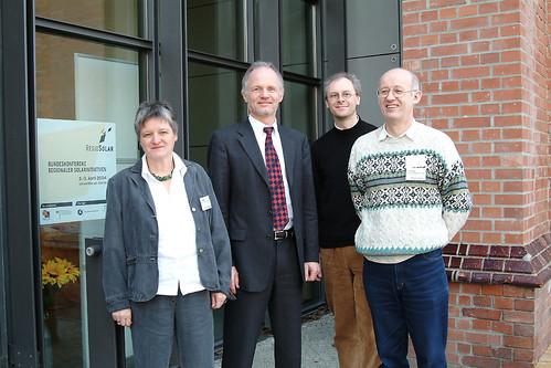 Regiosolar 2004 Staatssekretär Rainer Baake Solarbrückenteam