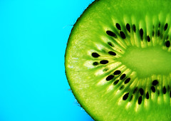 (beebo wallace) Tags: blue macro green fruit colorful seeds kiwi gooseberry kiwifruit
