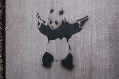 Panda (originalimac) Tags: art stencil panda gun