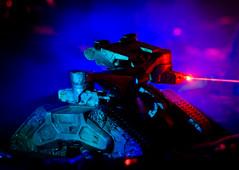 Hunter Killer (I Am Adam) Tags: blue red hk black toys robot war tank smoke garage machine battle ilm improvisation cameron lasers scifi sciencefiction t3 terminator kiel makeshift bot lazers t2 t4 specialeffects sfx realgenius treads t800 endoskeleton futurewar chocolatecigarellos henelaser heliumneonlaser