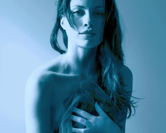 Melancholy (Cathleen Tarawhiti) Tags: blue light portrait people woman beauty canon model mood natural room luna brunette uc melancholy tulle barlow cathleen 40d aplusphoto theunforgettablepictures tarawhiti rubyphotographer 100commentgroup