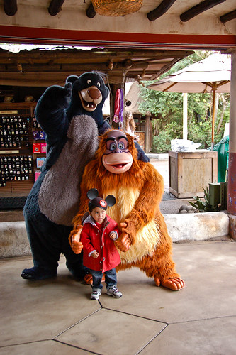With Baloo and King Louie