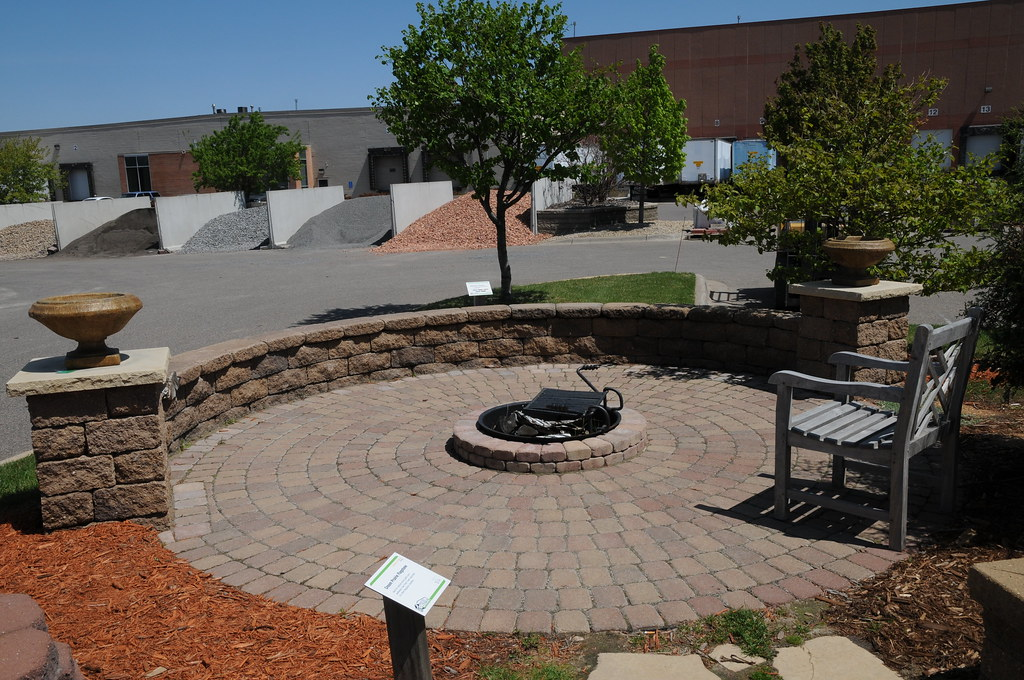 Circlestone Paver Patio And Fire Pit (Patio Town) Tags: Firepit Pavers  Brooklynpark Patiotown