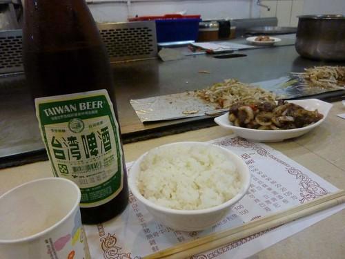 鉄板焼 台湾ビール