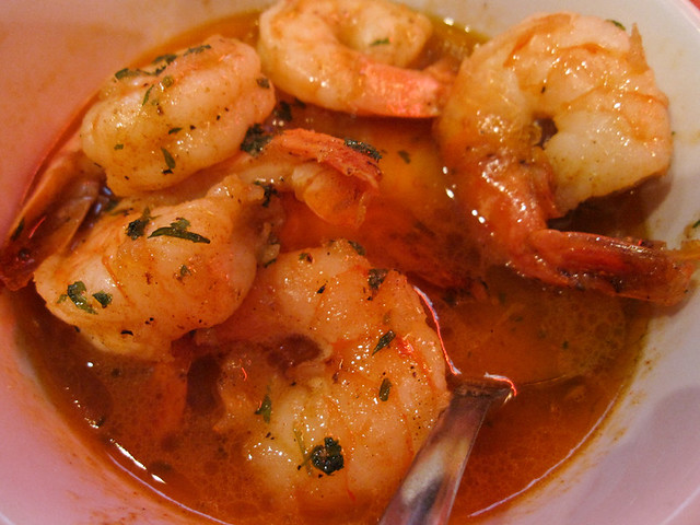 Gulf Shrimp sauteed with Russell Lager and butter rub sauce
