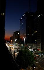 orange metropolis (**) Tags: sunset tramonto sopaulo prdosol metropolis avpaulista metrpole luscofusco