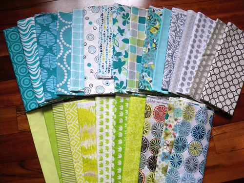 Fabrics for Kaleidoscope QAL